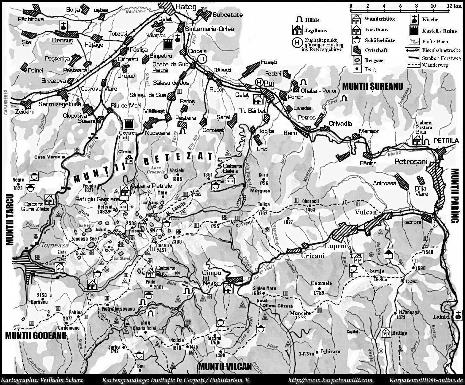 Muntii Retezat und angrenzende Gebirge (473 KB)